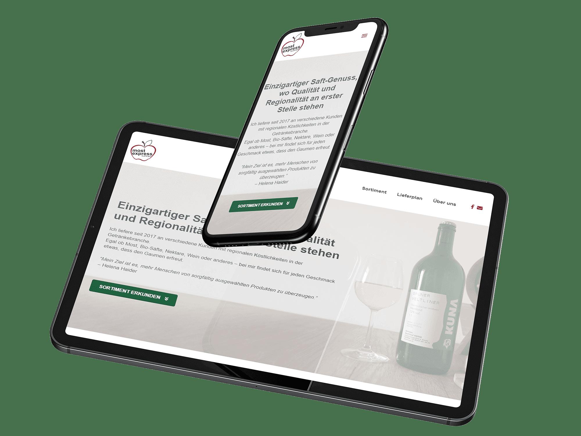 Responsive Webdesign - Mostexpress